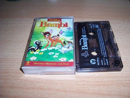 Walt Disney Hörspiel MC zum Film Bambi 1  1998 Walt Disney Records edel rot gebr.