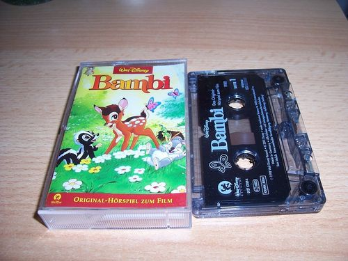 Walt Disney Hörspiel MC zum Film Bambi 1  2001 Walt Disney Records rot gebr.