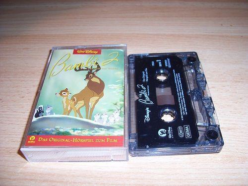 Walt Disney Hörspiel MC zum Film Bambi 2 - Der Herr der Wälder  2006 Walt Disney Records rot gebr.