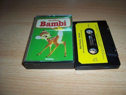 Walt Disney Hörspiel MC zum Film Bambi  1982 Delphin gebr.