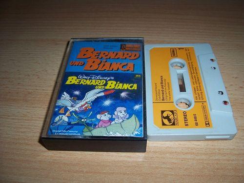 Walt Disney Hörspiel MC zum Film Bernard und Bianca die Mäusepolizei  1977 Disneyland MARCATO gebr.