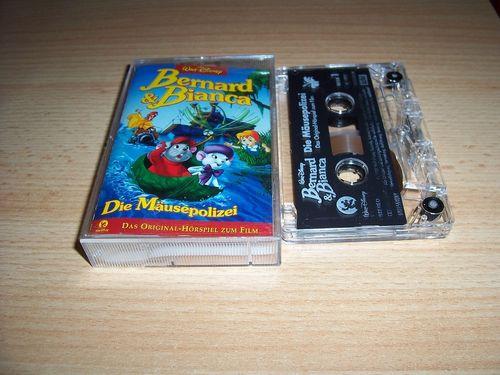 Walt Disney Hörspiel MC zum Film Bernard und Bianca 1 - Die Mäusepolizei  1998 WD Records rot gebr.