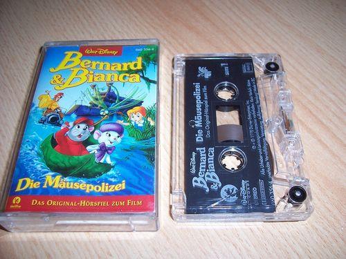 Walt Disney Hörspiel MC zum Film Bernard und Bianca 1 - Die Mäusepolizei  1999 WD Records rot gebr.