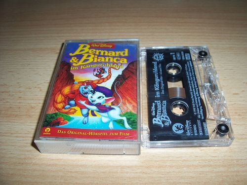 Walt Disney Hörspiel MC zum Film Bernard und Bianca 2 - Im Känguruhland  1998 WDRecord rot edel gebr