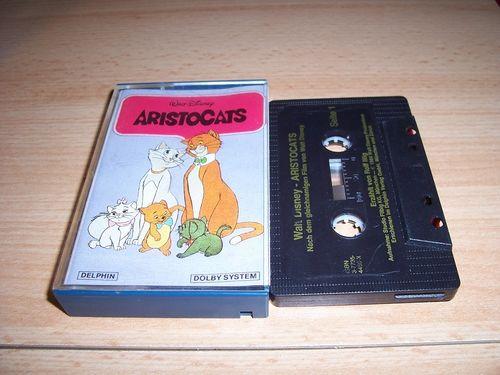 Walt Disney Hörspiel MC zum Film Aristocats  1984 Delphin gebr.