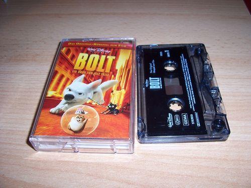 Walt Disney Hörspiel MC zum Film Bolt - Ein Hund für alle Fälle  2009 Walt Disney Records rot gebr.