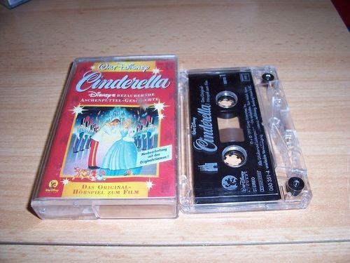 Walt Disney Hörspiel MC zum Film Cinderella  1997 Walt Disney Records rot gebr.