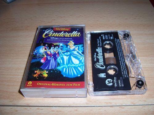 Walt Disney Hörspiel MC zum Film Cinderella  1997 Walt Disney Records edel rot gebr.