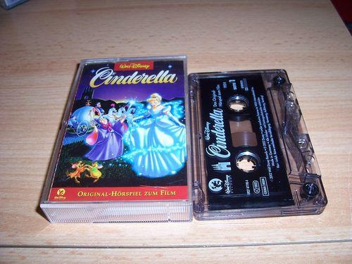 Walt Disney Hörspiel MC zum Film Cinderella  2002 Walt Disney Records rot gebr.