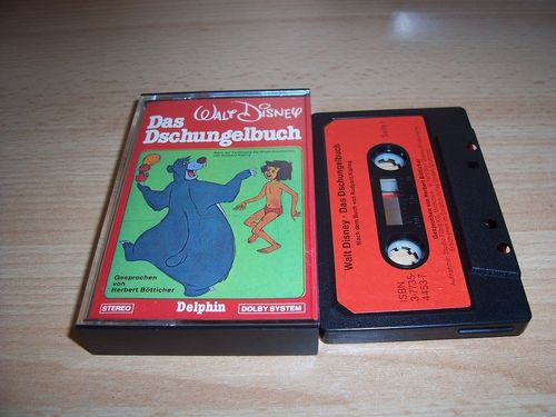 Walt Disney Hörspiel MC zum Film Das Dschungelbuch 1979 Delphin schwarz-rot gebr.