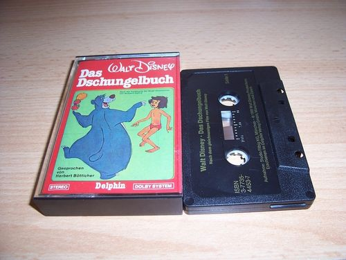 Walt Disney Hörspiel MC zum Film Das Dschungelbuch 1981 Delphin schwarz gebr.