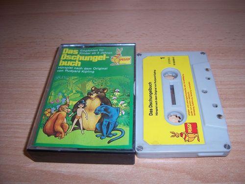 Walt Disney Hörspiel MC zum Film Das Dschungelbuch 1974 Peggy / BASF grau-gelb gebr.