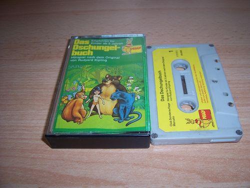Walt Disney Hörspiel MC zum Film Das Dschungelbuch 1974 Peggy / BASF / MARCATO grau-gelb gebr.