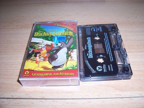 Walt Disney Hörspiel MC zum Film Das Dschungelbuch 1 - Kindermusical Walt Disney Records rot gebr.