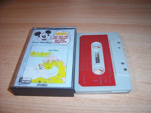Walt Disney Micky Sprechblase Hörspiel MC 001 1 Elliott das Schmunzelmonster 1978 Disneyland gebr.