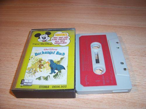 Walt Disney Micky Sprechblase Hörspiel MC 002 2 Dschungelbuch Folge 1 1978 Disneyland gebr.