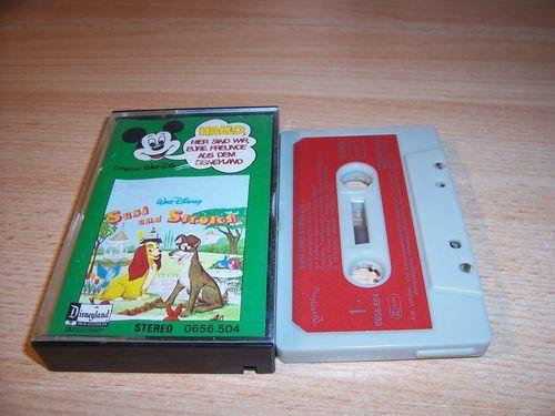 Walt Disney Micky Sprechblase Hörspiel MC 004 4 Susi und Strolch 1978 Disneyland gebr.