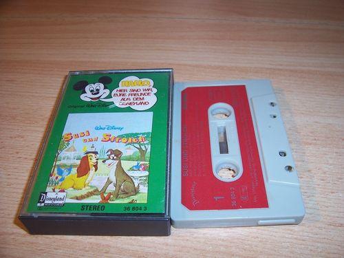 Walt Disney Micky Sprechblase Hörspiel MC 004 4 Susi und Strolch 1978 Disneyland CLUB EDITION gebr.