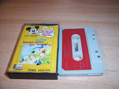 Walt Disney Micky Sprechblase Hörspiel MC 006 6 Donalds Neffen 1978 Disneyland gebr.