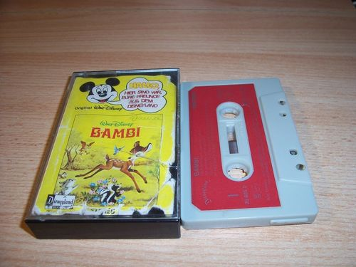 Walt Disney Micky Sprechblase Hörspiel MC 005 5 Bambi 1978 Disneyland CLUB EDITION Cover besch gebr.
