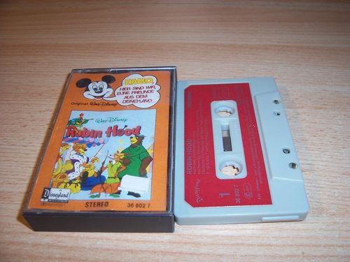 Walt Disney Micky Sprechblase Hörspiel MC 008 8 Robin Hood 1978 Disneyland CLUB EDITION gebr.