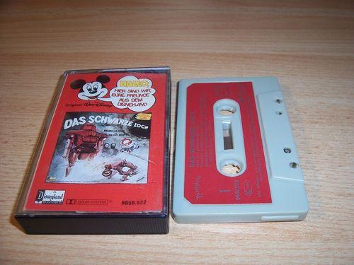 Walt Disney Micky Sprechblase Hörspiel MC 022 22 Das schwarze Loch 1980 Disneyland Cover besch gebr.