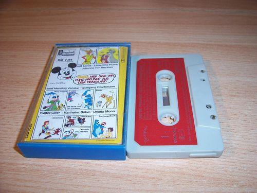 Walt Disney Micky Sprechblase Hörspiel MC 0 Uns're Freunde aus dem Disneyland 1978 Disneyland gebr.