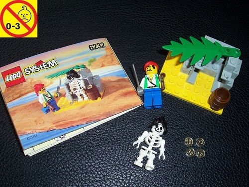 LEGO ® System / Pirate / Piraten Set 6232 - Skeleton Crew - Skelet Crow + BA gebr.