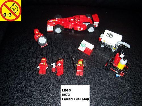 LEGO ® System / Racers Set 8673 - Ferrari F1 Fuel Stop Tankstop Pitstop Boxenstop Formel 1 gebr.