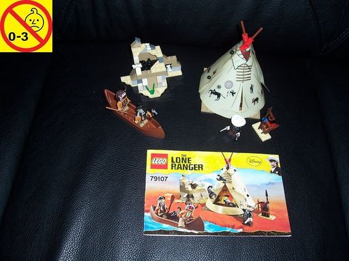 LEGO ® System / Western Set 79107 - The Lone Ranger Comanche Camp + BA gebr.