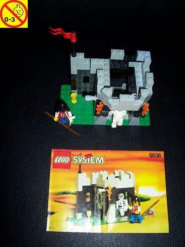 LEGO ® Castle / Knights Kingdom / Ritter Set 6036 - Royal Knights Skeleton Surprise Löwen + BA gebr.