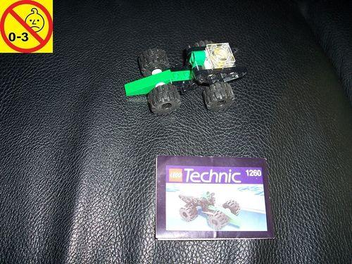LEGO ® Technic Set 1260 - Car Auto mit 1 Zylinder Motor + BA gebr.