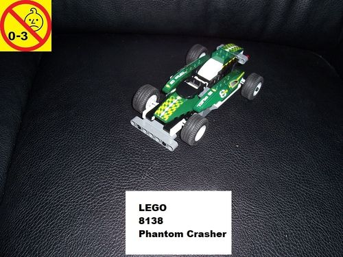 LEGO ® System / City / Racers Set 8138 - Phantom Crasher - Rennwagen Pull-Back-Motor Auto gebr.