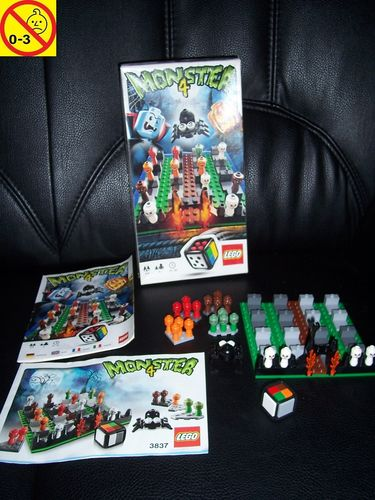 LEGO ® Games / Spiele Set 3837 - Monster 4 100% komplett + BA + OVP gebr.
