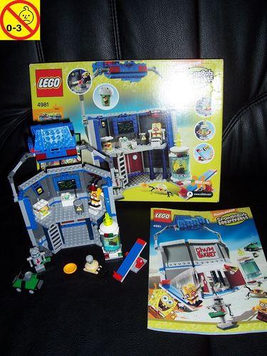 LEGO ® System / Studios / SpongeBob Squarepants Set 4981 - Chum Bucket + BA + OVP gebr.