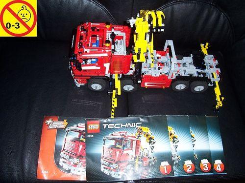 LEGO ® Technic Set 8259 - Crane Truck Kran LKW Schwenkkran mit Elektro Motor 9V Power + BA gebr.