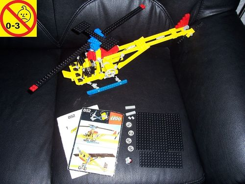 LEGO ® Technic Set 852 - Reconnoitre Helicopter Heli + Flugzeug + BA 1977 gebr.