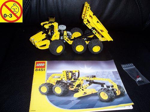 LEGO ® Technic Set 8451 - Dumper Kipper LKW Grader Baustellenfahrzeug + BA gebr.