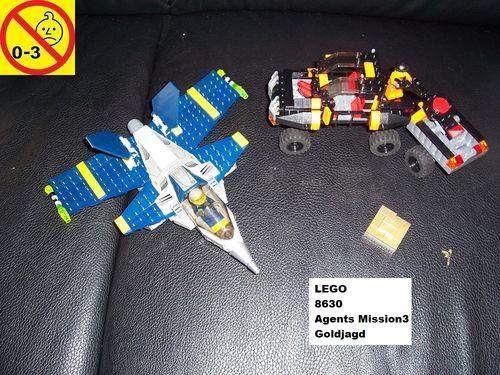 LEGO ® System / Agents Set 8630 - Mission 3 - Gold Hunt / Goldjagd gebr.