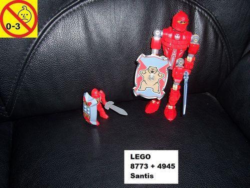 LEGO ® Castle / Knights Kingdom / Ritter Set 8773 / 8785 + 4945 - Santis + Nestle Promo gebr.