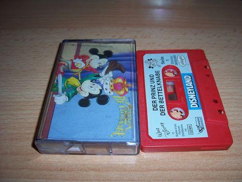 Walt Disney Hörspiel MC zum Film Der Prinz und der Bettelknabe Micky und die Zauberbohne ehapa gebr.