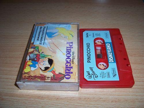 Walt Disney Hörspiel MC zum Film Pinocchio + Pinocchio besiegt den Riesenwal ehapa gebr.
