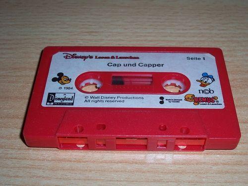 Walt Disney Hörspiel MC zum Film Cap und Capper + Cap und Vixie knapp entkommen Remus nur MC gebr.