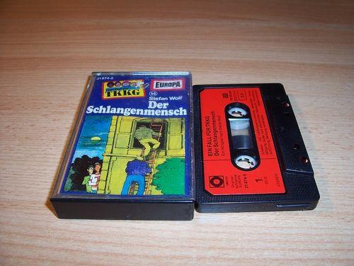TKKG Hörspiel MC 014 14 Der Schlangenmensch Europa SONOCORD 31674-5 gebr.