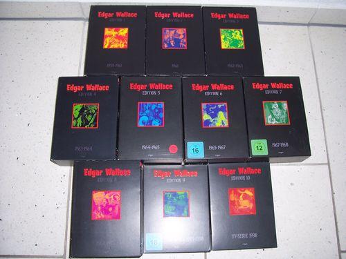 DVD Edgar Wallace Gesamtedition 1959-1972 + TV Serie komplett Edition Box 1 2 3 4 5 6 7 8 9 10 gebr.