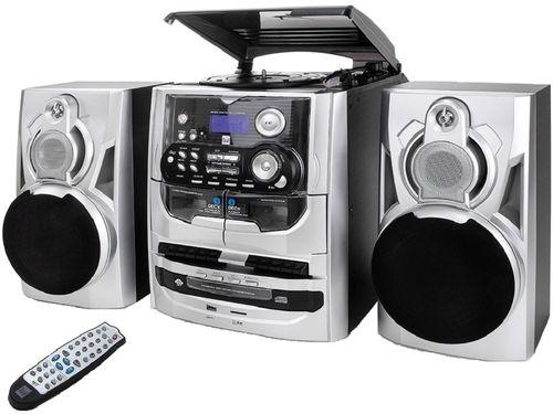 Dual MP 301 Stereoanlage Mini-System Radio CD-Wechsl Kassettendeck Plattenspieler USB digitalisierer