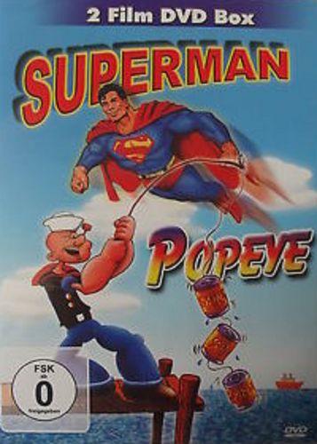 DVD Supermann + Popeye 16 Folgen  2 Film DVD Box 2013 FSK 0 Zeichentrickfilm NEU & OVP