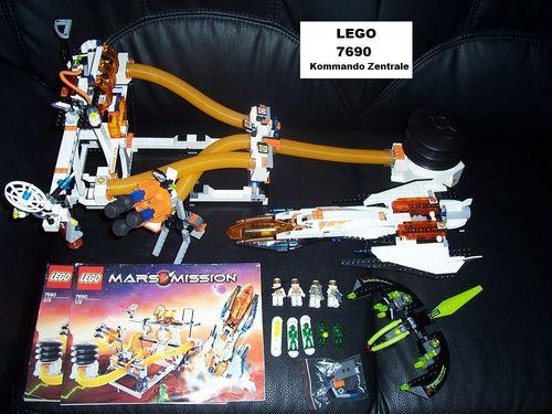 LEGO ® System / Space / Weltraum Set 7690 - Mars Mission - Eagle Command Base  Raumschiff + BA gebr.