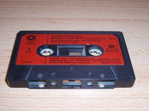 Die Drei Fragezeichen 3 ??? Hörspiel MC 005 5 und der Fluch des Rubins SONOCORD MC rot-schwarz gebr.