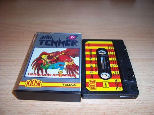 Jan Tenner Hörspiel MC Kassette 006 6 Geheimnis des Adlers 1. Kiosk Teldec rot-gelb gebr.